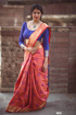 Banarasi Weaving Patola Saree  in Red Color