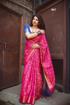 Banarasi Weaving Patola Saree  in Maroon Color