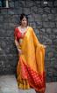 Banarasi Weaving Patola Saree  in Yellow Color