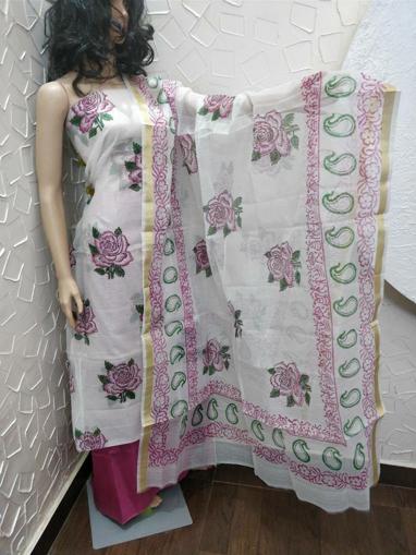 Pure Kota Doria Salwar Suits
