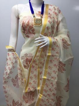 Kota Doria Printed Salwar Suits