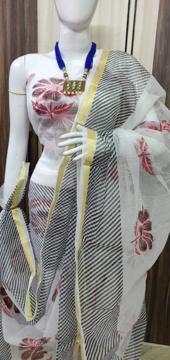 Kota Doria Suits Stripes Leheriya Pattern