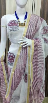 Kota Doria Leheriya Pattern Cotton Salwar Suits