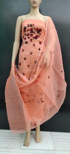 Pure Kota Doria Embroidery Work Ladies Suits & Salwars