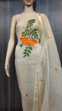Kota Doria Ladies Suits & Salwars Embroidery Work