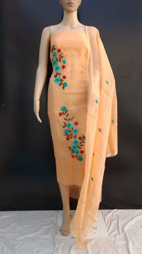 Kota Doria Embroidery Work Suits Online