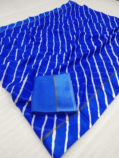 Blue Lehariya Kota, Satin Patta buy Online