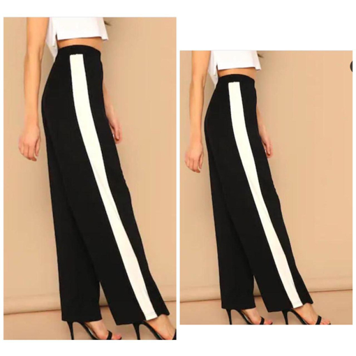 High waist pants (culottes) with stripe