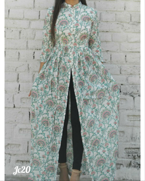 Stylish printed long top for women