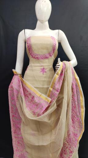 Kota Doria Aari Work Salwar Suits Online