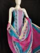 Kota Doria Printed Cotton Suit in Pink Color