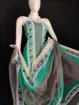 Kota Doria Printed Cotton Suit in Green Color