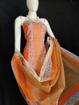 Kota Doria Printed Cotton Suit in Orange Color
