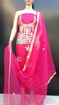 Buy Women's Cotton Kota Doria Gota Patti Work Suit Pink Color