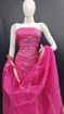 Kota Doria Handwork Suits Dress Material Pink Color