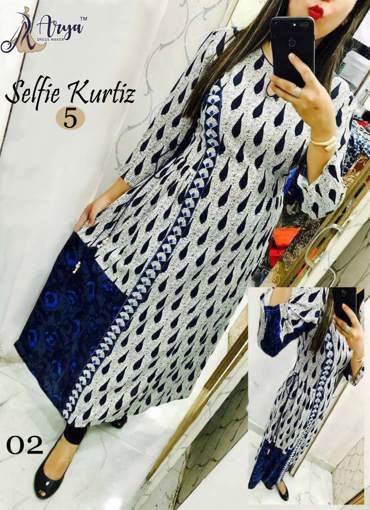 Selfie kurti with digital print