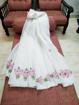 Kota doria embroidery work saree