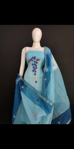 Kota doria embroidery suits for women