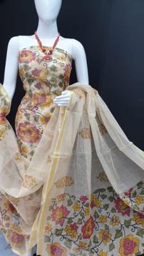 Kota Doria flower print suits