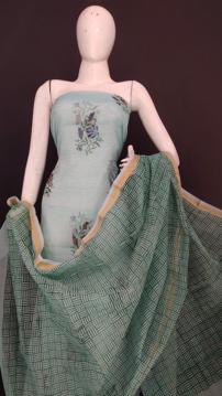 Printed kota doria salwar suits of women