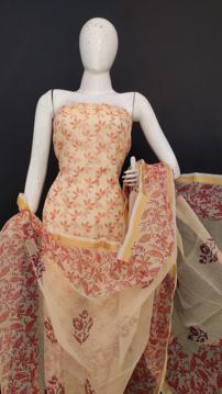 Printed kota doria salwar suits