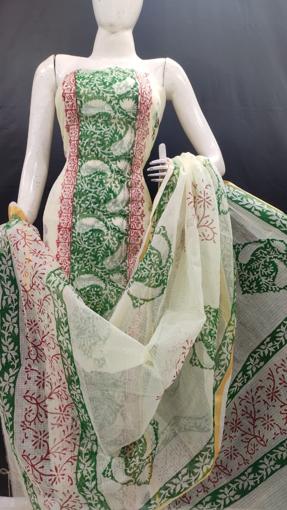 Buy printed kota doria suits for women
