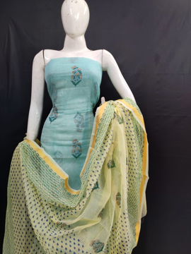 Pure kota doria printed dress material for suits