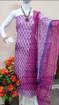 Kota doria block print salwar suits in purple
