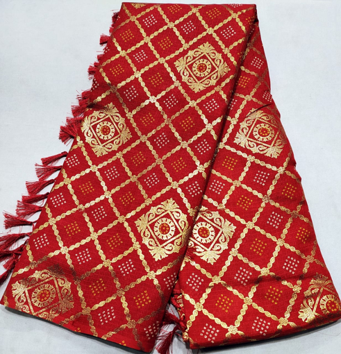 Cotton saree with traditional design