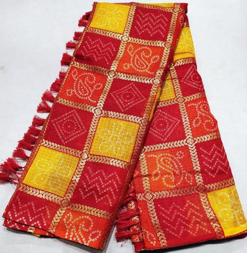Cotton saris for women with traditional design