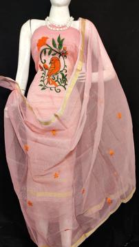 Kota Doria parrot embriodery suit material