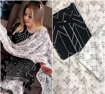 Black color bandhani design with samosa lace kurti plazzo dupatta set.