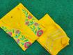 Yellow embroidered kurti pants dress for women