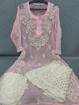 Pink Luchnowi Chikankari Sharara Dress