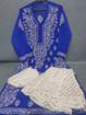 Deep Blue Luchnowi Chikankari Sharara Dress