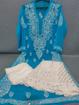 Blue Luchnowi Chikankari Sharara Dress
