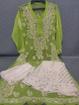 Green Luchnowi Chikankari Sharara Dress