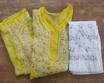 Yellow Luchnowi Chikankari Kurti With Pants (white)