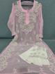 Pink Luchnowi Chikankari Kurti With Pants (white)