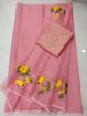 Kota doria embroidery saree with blouse