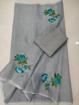Grey Kota doria saree with blouse print