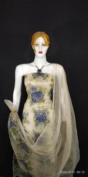 Kota doria rose screen print suits  for women