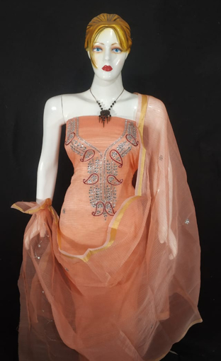 Kota doria suits with kundan work for women