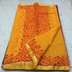 Kota doria cotton saree with thread work design with blouse.