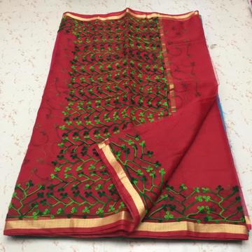 Red Wholesale Kota Doria Sarees
