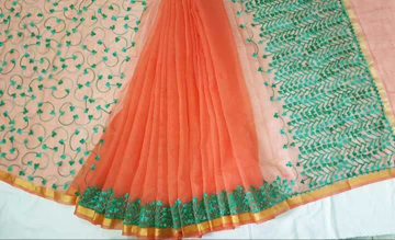 Kota Doria Sarees Online With Thread Work