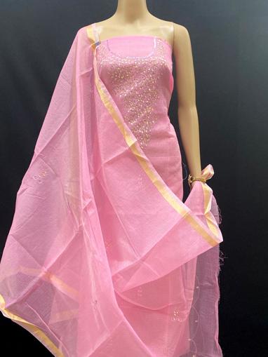 Kota doria kundan work salwar suits for women
