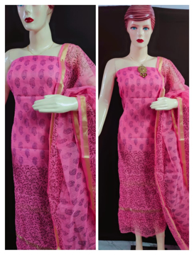 Block print kota doria kurtis for women