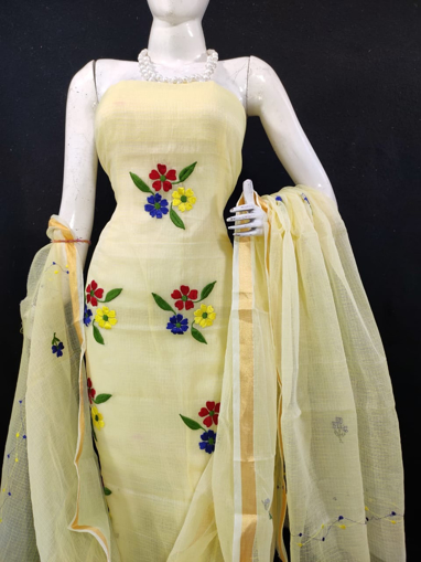 Embroidery work kota doria salwar suit for women