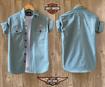 Harley Davidson Shirt - Light Blue